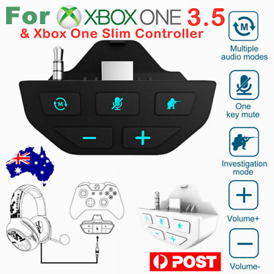 AU34.66 • Buy Headset Adapter Audio Mic Headphone Converter For Microsoft Xbox One Controller>