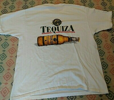 $ CDN22.77 • Buy Vtg BUDWEISER TEQUIZA 1999 Mens XL White Shirt Beer Cotton Double Sided 90s