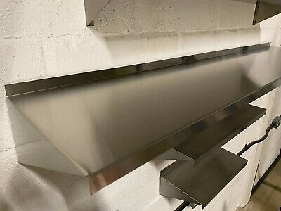 Shelves Commercial Kitchen Clean Wall Shelf Brushed Stainless Steel - 300mm Deep • 56.79£