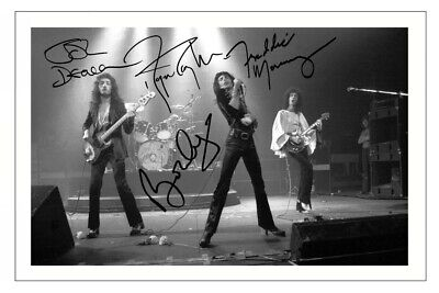 £5.49 • Buy QUEEN Fully Signed Autograph 12x8 PHOTO Signature Print Music Freddie Mercury