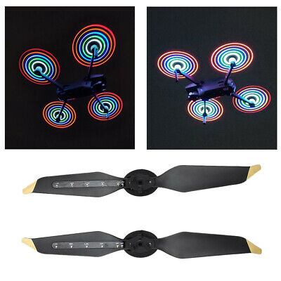 AU28.13 • Buy 1 Pairs LED Flash Propellers USB Charging For DJI Mavic Pro Platinum Drone CL