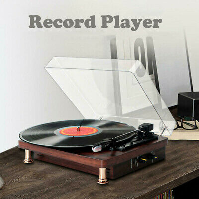 AU77.99 • Buy Portable Retro Briefcase Vinyl Turntable Record Player With Speakers & Bluetooth