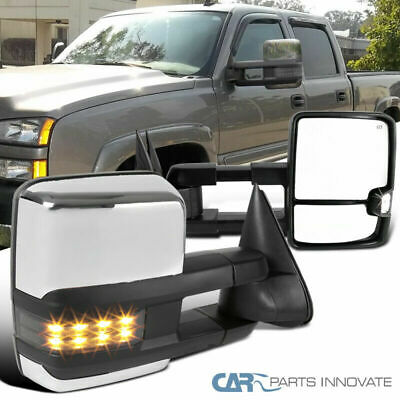 $141.95 • Buy For 03-06 Silverado Sierra Power Heated Tow Mirrors+Smoke LED Signal+Clearance