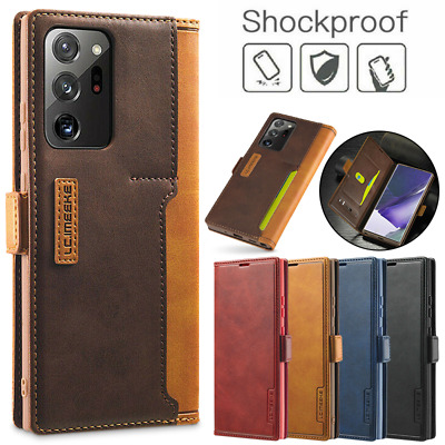 $ CDN8.85 • Buy For Samsung Note 20 S20 Ultra S10 Plus S9 Card Leather Wallet Holder Case Cover