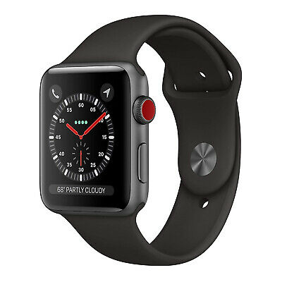 $ CDN414.16 • Buy Apple Watch S3 42mm GPS And Cellular Smartwatch Space Gray Aluminum Case