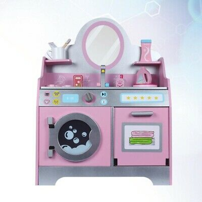 Girls Vanity Table Toy Kids Dressing Mirror Table Make Up Desk Toy Washing Table • 25.39£