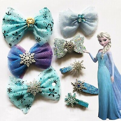 AU4.95 • Buy Frozen Hair Clips Kids Snap Hairclips Elsa DressUp Girls Party Hair Accessories