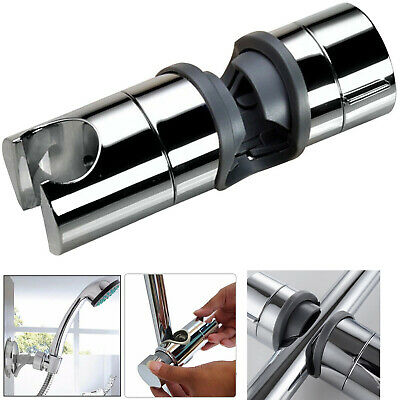 Shower Head Holder Shower Rail Bracket Adjustable Chrome Plated 22-25mm • 3.99£