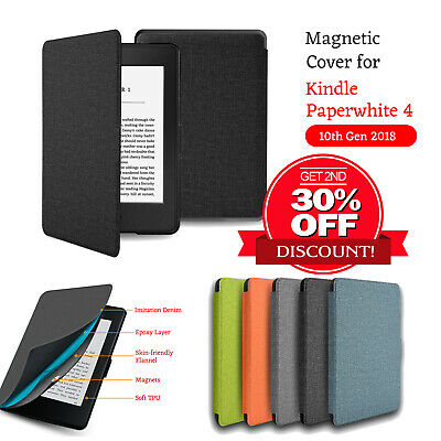 AU10.99 • Buy Kindle Cover Case For Kindle Paperwhite 4 10th Gen 2018 Auto Sleep/Wake Cover