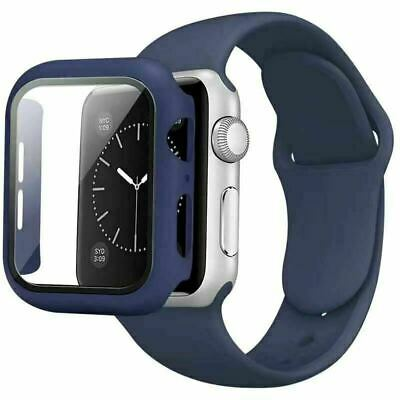 AU13.99 • Buy 2IN1 Silicone IWatch Band Strap + Case For Apple Watch 6 5 4 3 2 1 SE 38 40 44mm