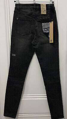 "AU100 • Buy KSUBI - Black Denim Skinny Jeans SIZE6/24"" RRP$190"