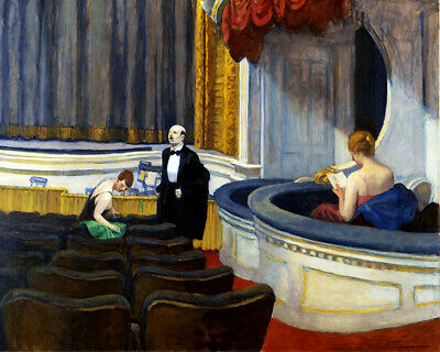 £2.49 • Buy Two On The Aisle (1927) Edward Hopper, Theatre Wall Art Poster Print A6 A5 A4