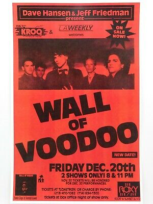 $14.95 • Buy Wall Of Voodoo The Famous Roxy Theatre In Hollywood Vintage Punk Concert Poster