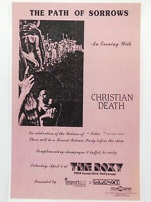 $14.95 • Buy Christian Death At The Roxy Theatre In Hollywood Vintage Punk Concert Poster