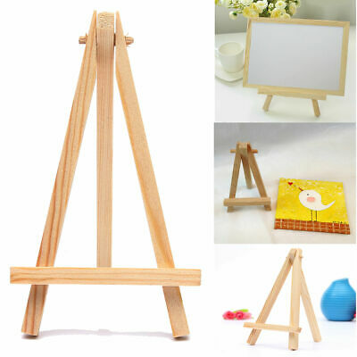 Mini Wooden Easel Table Wedding Picture Name Card Holder Display Small Stand UK • 8.75£