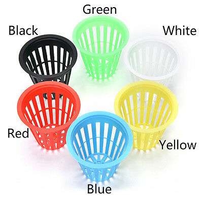 10x Planting Basket Plastic Round Aquatic Pots Baskets For Water Plants Pond _wk • 2.07£