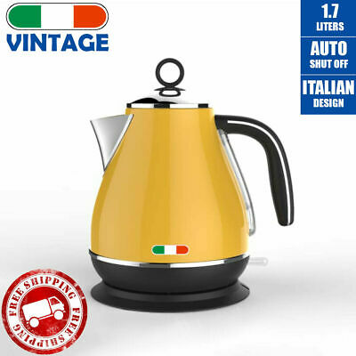 AU99.99 • Buy Vintage Electric Kettle Yellow 1.7L Stainless Steel Auto OFF 2200W |not Delonghi