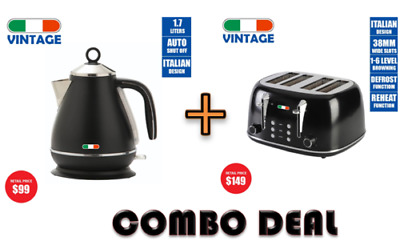AU174.99 • Buy Vintage Electric Kettle + Toaster Combo Deal Stainless Steel Not Delonghi Black