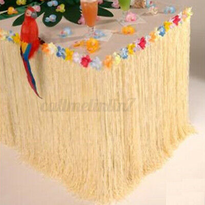 9Ft Hawaiian Luau Beach Colorful Flower Grass Party Table Skirt Cover Home  • 8.26£