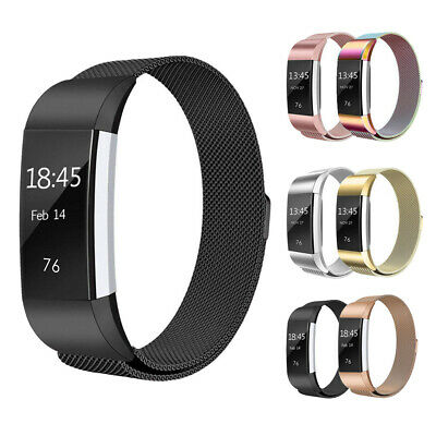 AU8.95 • Buy For Fitbit Charge 2 Band Metal Stainless Steel Milanese Loop Wristband Strap