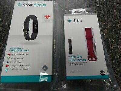$ CDN171.68 • Buy Fitbit Alta HR Heart Rate + Fitness Wristband, US Version, Black, Large New