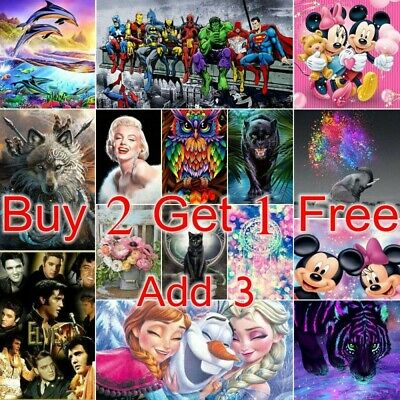 AU14.99 • Buy 5D Full Drill Diamond Painting Embroidery Kits Arts DIY Gifts Cartoon Decoration