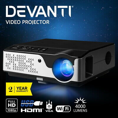 AU228.95 • Buy Devanti Video Projector Wifi USB Portable 4000 Lumens HD 1080P Home Theater