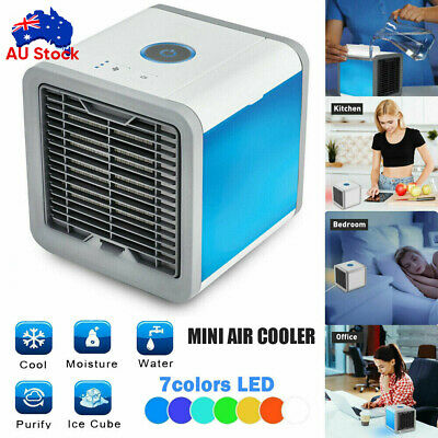 AU21.80 • Buy Portable Mini Air Cooler Fan Air Conditioner Cooling Fan Humidifier AC AU STOCK