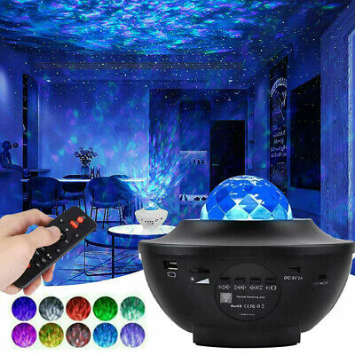 Star Projector Light Galaxy LED Starry Sky Night Lamp Ocean Wave Music Party UK • 30.85£
