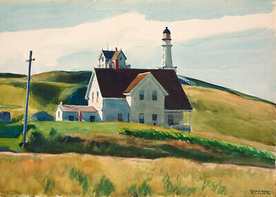 £7.99 • Buy Edward Hopper Hill And Houses Wall Art Poster Print A6 A5 A4 A3