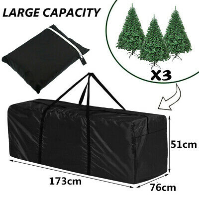 Christmas Tree Zip Up Storage Bag For Up To 7ft/9ft Trees Decorations Sack 173CM • 15.98£