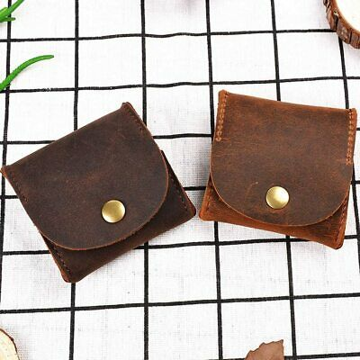 $14.75 • Buy GENUINE LEATHER WALLET COIN Squeeze COIN PURSE Pouch Change Holder