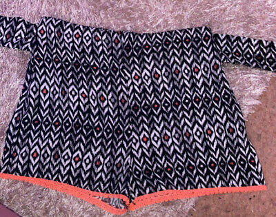 Primark Girls Tie-up Wrap Patterned Beach Shorts  ~ 12-13 Years *NEW NEVER WORN* • 1.70£