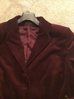 LOVELY BURGUNDY SOFT CORD LADIES Skirt SUIT ALEX & Co SIZE 18 VGC • 9.50£