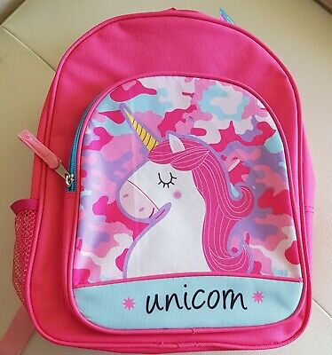 AU17 • Buy Girls Unicorn Backpack  Shoulder Primary School  Bags. NEW With Tags.