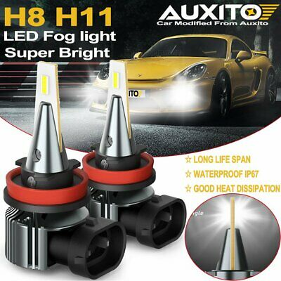 AU34.99 • Buy 2X AUXITO H11 H8 LED Fog Light DRL Bulb Super Bright 2400LM High Power CANBUS