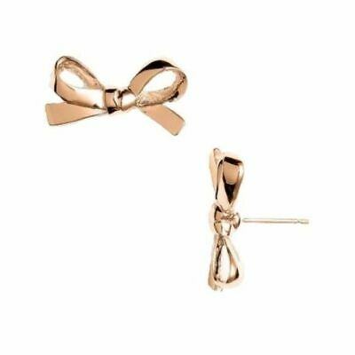 $ CDN35.35 • Buy KATE SPADE EARRINGS! Skinny Mini Bow Studs In ROSE GOLD! NWT And Dustbag :)