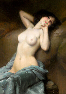 Albert Penot The Charm Of The Evening Wall Art Poster Print 5x7in Nude • 2.99£