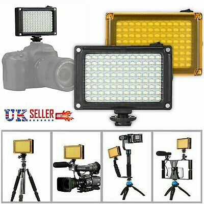 DSLR Camera Camcorder 96LEDs Video Light Lamp Lighting Panel For Canon Nikon UK • 12.89£