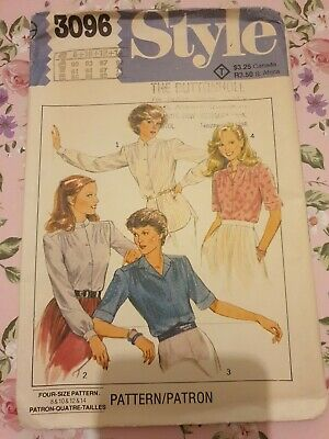 Style 3096 Sewing Pattern Ladies Shirt Blouse Collared Buttoned 8 10 12 14 NEW  • 8.99£