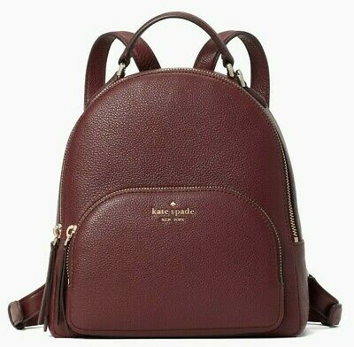 $ CDN153.10 • Buy Kate Spade Jackson Burgundy Leather Medium Backpack WKRU5946 NWT $359 Cherrywood