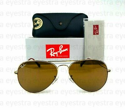 AU99.99 • Buy Ray-Ban RB3025 AVIATOR CLASSIC 58mm Brown