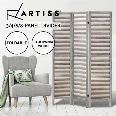 AU105.95 • Buy Artiss Room Divider Screen 3/4/6/8 Panel Privacy Wooden Dividers Timber Stand