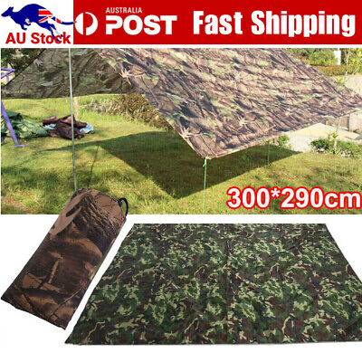 AU26.12 • Buy Waterproof Camping Hiking Tent Tarp Canopy Awnings Rain Cover Sun Shelter AU