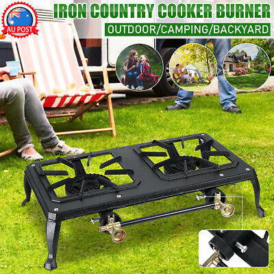 AU30.98 • Buy Cast Iron Country Cooker Burner LPG Gas Stove Cooker Camping GB01LP/GB03LP
