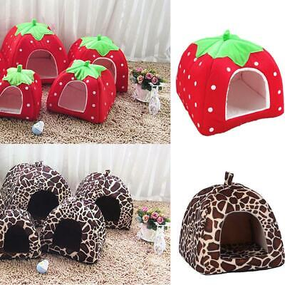 £4.99 • Buy Pet Cat Dog Nest Bed Puppy Soft Warm Cave House Winter Sleeping Igloo Kennel S-L