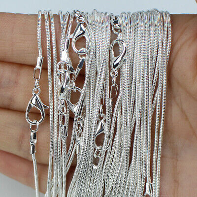 10pcs Wholesale Cross Snake Chain 925 Sterling Silver Plated Necklaces Jewelery • 4.29£