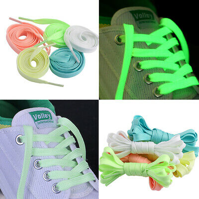 £2.29 • Buy Luminous Shoelace Glow In The Dark Night Sport Flat Shoe Laces Fluorescent Color