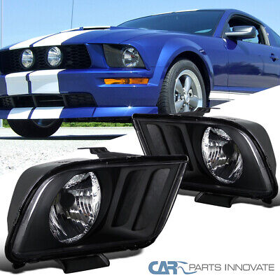$91.95 • Buy For 05-09 Ford Mustang GT Matte Black Headlights Front Driving Lamps Left+Right