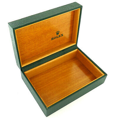 $ CDN144.37 • Buy Vintage Rolex Green Wooden/leather Watch Box Without Pillow 68.00.55